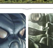Fallout Helmets - 4 Simbols (ordered) Sticker