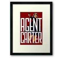 Name? Agent. Framed Print