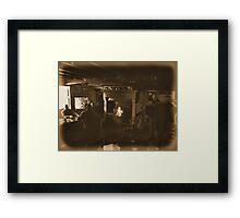 The welcoming fire Framed Print