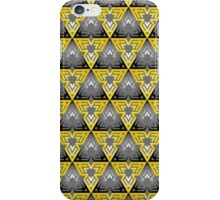 Modern - Triangles of Black and Yellow iPhone Case/Skin