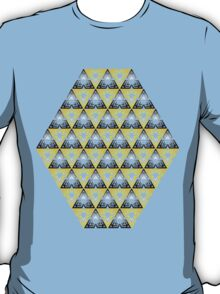 Modern - Triangles of Black and Yellow T-Shirt
