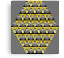 Modern - Triangles of Black and Yellow Canvas Print
