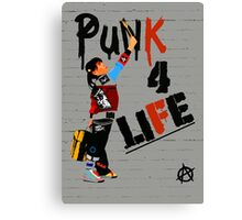 "Punky ""Punk 4 Life"" Brewster Canvas Print"