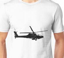 Large Detailed Apache AH-64 Helicopter Black v1 Unisex T-Shirt