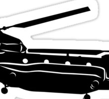 Large Detailed Boeing Chinook Helicopter Black v1 Sticker