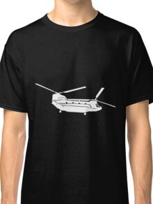 Large Detailed Boeing Chinook Helicopter White v1 Classic T-Shirt