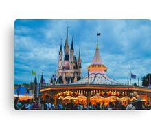 Carousel & Castle Canvas Print