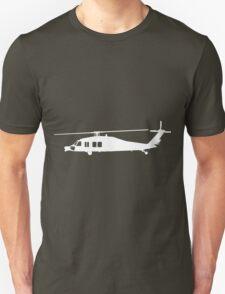 Blackhawk Helicopter Design in White v3 T-Shirt