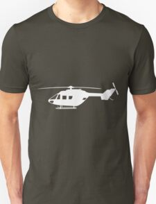 BK117 Helicopter Design in White T-Shirt