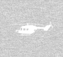 BK117 Helicopter Design in White Unisex T-Shirt