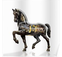 Leonardo da Vinci mechanized horse. Poster