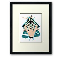 Pastel Shower Framed Print