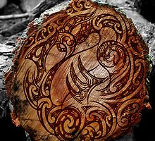 Manaia Wood Burning by Revolution Aotearoa