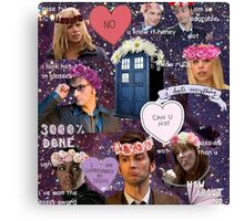 Sassy Tenth Doctor and Companions Canvas Print