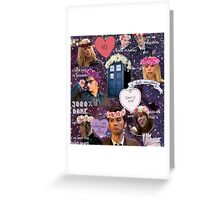 Sassy Tenth Doctor and Companions Greeting Card