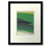 Green stripes Framed Print