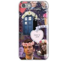 Sassy Tenth Doctor and Companions iPhone Case/Skin