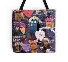 Sassy Tenth Doctor and Companions Tote Bag