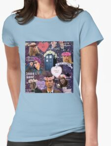 Sassy Tenth Doctor and Companions Womens Fitted T-Shirt