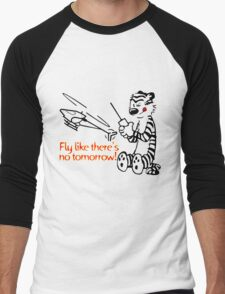 RC Helicopter Hobbes Design Men's Baseball ¾ T-Shirt
