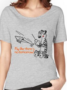 RC Helicopter Hobbes Design Women's Relaxed Fit T-Shirt