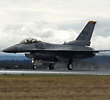 USAF F16C Fighting Falcon at Australian International Airshow - 14 March 2009 by Bev Pascoe