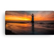 Lighthouse At Sunset Canvas Print