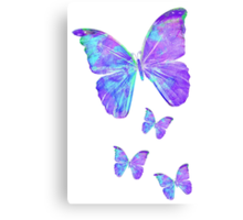 Purple Butterflies by Jan Marvin Canvas Print