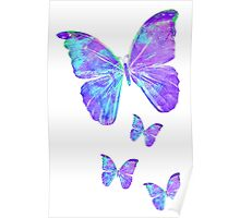 Purple Butterflies by Jan Marvin Poster