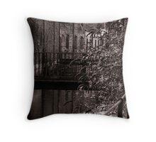 Dorchester River in Mono chrome Throw Pillow