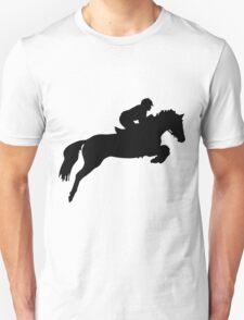 Horse Jumper Design in Black T-Shirt