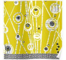 Mid Century Meadow (Mustard) Poster