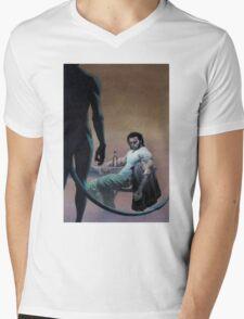 Wolvy and Nightcrawler Mens V-Neck T-Shirt
