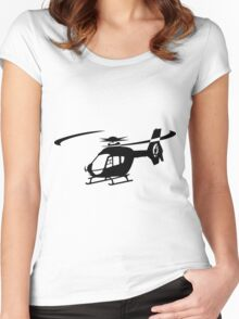 EC-135 Helicopter Design Women's Fitted Scoop T-Shirt