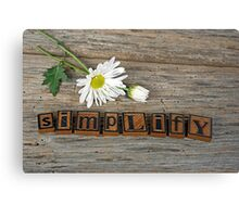 Simplify Daisy Canvas Print
