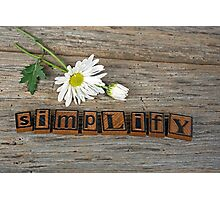 Simplify Daisy Photographic Print