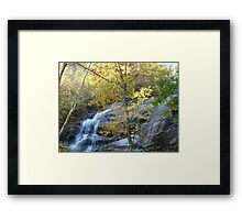 Crabtree Falls in Autumn ^ Framed Print