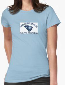 Surfside Beach - South Carolina. Womens Fitted T-Shirt