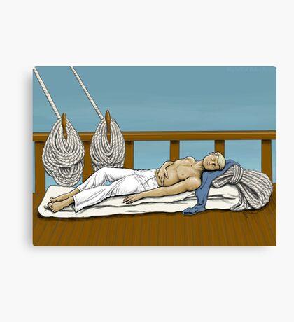 Sleeping Sailor Canvas Print