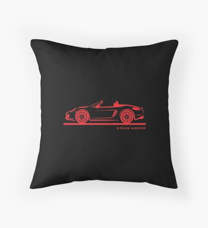 Porsche 981 Boxster Red Throw Pillow