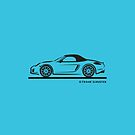 Porsche 981 Boxster Top Up Black by Frank Schuster