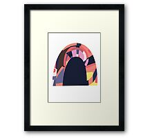 Rainbow tunnel Framed Print