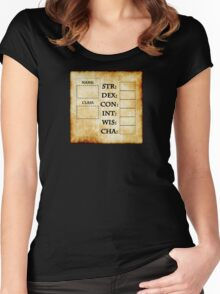 Blank RPG Character Sheet Women's Fitted Scoop T-Shirt