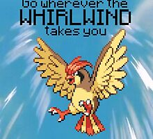 Pidgeotto #17 - Go wherever the WHIRLWIND TAKES YOU  by NumberIX