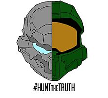 #HuntTheTruth - Locke/Master Chief Colour Photographic Print