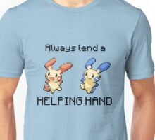 #311 Plusle and #312 Minun -  Always lend a HELPING HAND  Unisex T-Shirt