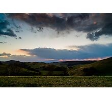 Sunset over the Kaiserstuhl, South-West Germany Photographic Print
