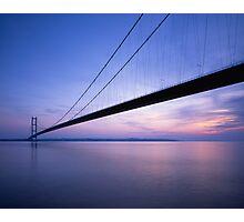 'Humber Bridge at sunset' Photographic Print