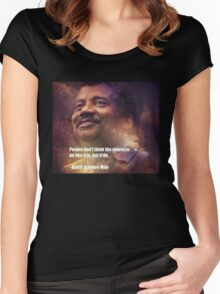 Black Science Man Women's Fitted Scoop T-Shirt