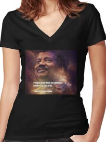 Black Science Man Women's Fitted V-Neck T-Shirt